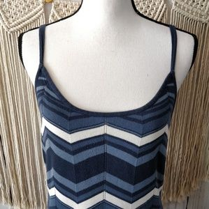 Guess Dresses - GUESS Blue Chevron Sleeveless Tank Dress L